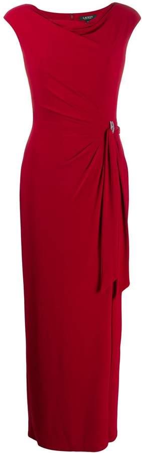 Lauren Ralph Lauren fitted draped dress