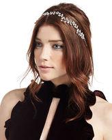 Jennifer Behr Vera Crystal Leaf Circlet Headband