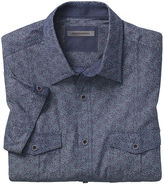 Johnston & Murphy Botanical Print Chambray Camp Shirt