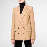 Paul Smith Women's Camel Wool-Blend Double-Breasted Blazer
