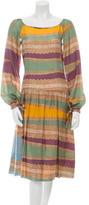 Alberta Ferretti Silk Cutout Dress