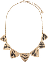 Accessorize Threaded Triangle Round Necklace