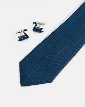 Ted Baker SWANING Swan tie and cufflink set