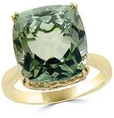Bloomingdale's Green Amethyst Cushion and Diamond Ring in 14K Yellow Gold - 100% Exclusive