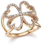 Bloomingdale's Diamond Four Leaf Clover Ring in 14K Rose Gold, .35 ct. t.w.
