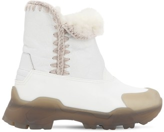 Mou 50MM LEATHER & RUBBER ESKIMO BOOTS