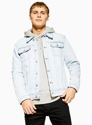 TopmanTopman Bleach Wash Denim Jacket