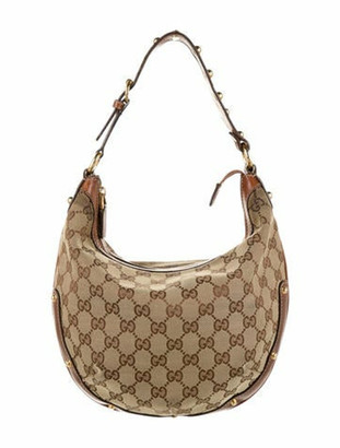 Gucci GG Canvas Biba Hobo Brown