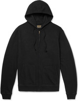 Jean Shop Embroidered Fleece-Back Cotton-Jersey Zip-Up Hoodie