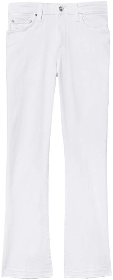 Derek Lam 10 Crosby Gia Mid Rise Cropped Flare in White