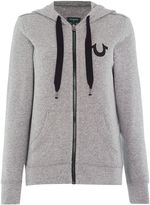 True Religion Long sleeve sweat with raw detailing