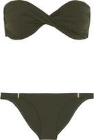 Melissa Odabash Martinique Bandeau Bikini - Army green