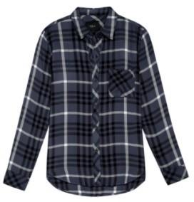 Rails Ebony Shirt - XS   rayon   blue - Blue/Blue