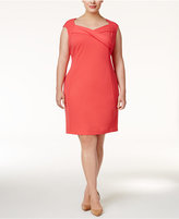 Calvin Klein Plus Size Surplice Sheath Dress