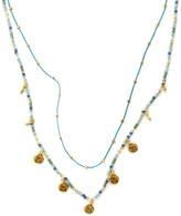 Chan Luu Chinese Cord & Coin Layer Necklace