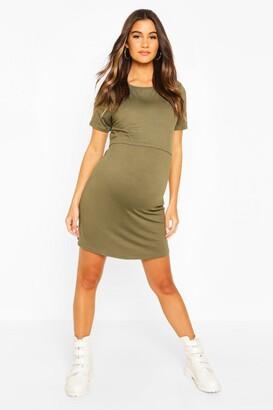 boohoo Maternity Nursing T-Shirt Dress