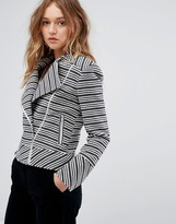 Helene Berman Collarless Biker Jacket