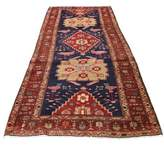 """One-of-a-Kind Krustapentus North West with Peacocks and Birds Hand-Knotted Runner 3'9"""" x 10'8"""" Wool Red Oriental Area Rug Bloomsbury Market"""