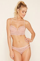 Forever 21 FOREVER 21+ Lace-Front Bikini Panty