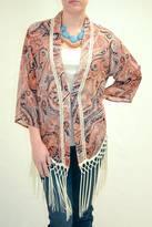 Miss Me Fringe Accented Kimono
