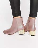 Asos RAND Heeled Ankle Boots