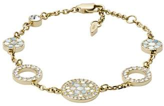 Fossil Vintage Glitz Gold-Tone Steel Bracelet Jewelry JF02602710