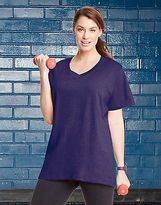 Champion Cotton V-Neck Women's Plus T-Shirt Women's Tops