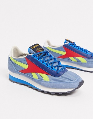 Reebok Geo-Tribal 79 OG sneakers in blue and yellow