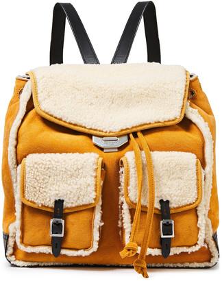 Rag & Bone Field Shearling-paneled Suede Backpack