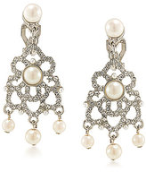 Carolee Washington Square Chandelier Clip-On Pearl Bridal Earrings