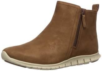 Cole Haan Women's Zerogrand Side Zip Bootie Waterproof Chukka Boots Brown (Bison Nubuck/Ivory) 6.5 UK (39.5 EU)