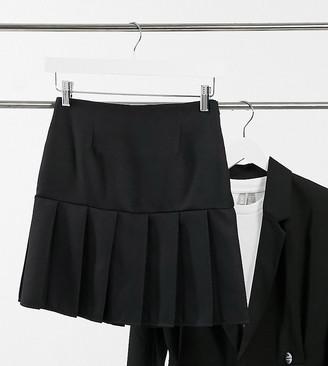 Asos Tall ASOS DESIGN Tall pleated mini skirt in black