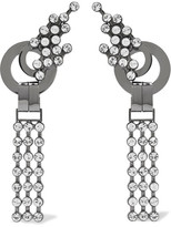 Marni Palladium-tone Crystal Clip Earrings - Silver