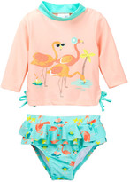 Candlesticks Flamingo Rashguard & Skirted Flamingo Print Bottom 2-Piece Set (Baby Girls 12M-24M)