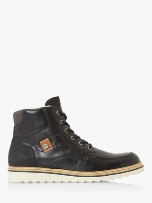 Dune Coffee Warm Lined Lace Up Boots