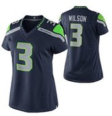 Womens Seattle Seahawks Russell Wilson Limited Jersey - Navy Blue(S)