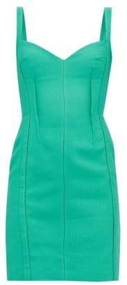 Emilia Wickstead Fyfe Cloque Mini Dress - Green