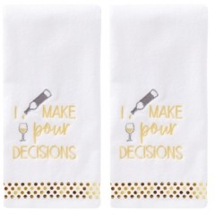 Saturday Knight Ltd Pour Decisions 2 Piece Hand Towel Set Bedding