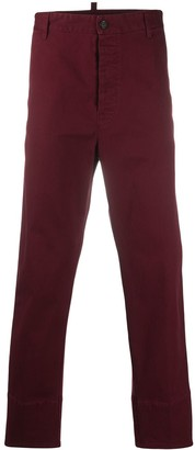 DSQUARED2 Logo Plaque Chino Trousers