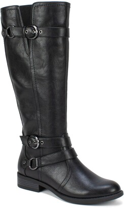 White Mountain Footwear Loyal Tall Faux Leather Riding Boot - Wide Calf