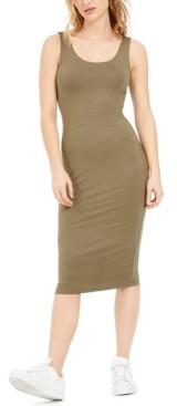 Bar III Bodycon Scoop-Neck Midi Dress, Created for Macy's