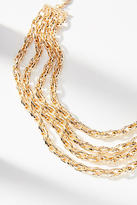 Anthropologie Braided Chains Collar Necklace