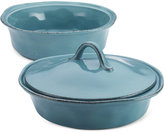 Rachael Ray Cucina Stoneware 3-Piece Round Casserole Set with Shared Lid