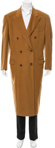 Loro Piana Double-Breasted Vicuna Overcoat