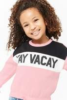 Forever 21 Girls Yay Vacay Graphic Pullover (Kids)