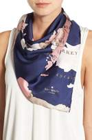 Kate Spade 'going Places' Silk Scarf