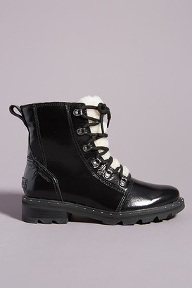 Sorel Lennox Cozy Lace-Up Rain Boots By in Black Size 6