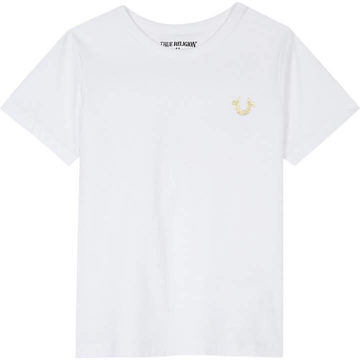 True Religion Gold Buddha logo cotton T-shirt 4-6 years