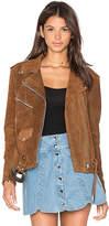 Understated Leather x REVOLVE Western Suede Moto Jacket