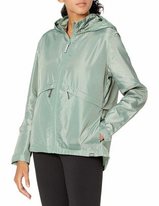 Andrew Marc Women's Ripstop TALSON Slim Hooded Windbreaker with MESH Back Vent